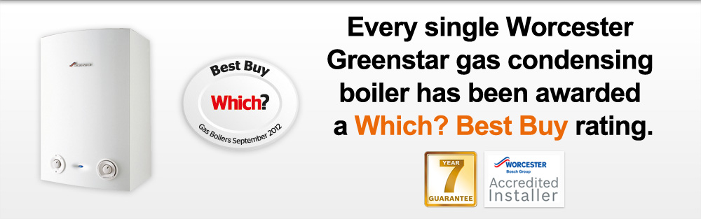 Every single Worcester Greenstar gas condensing boiler has been awarded a Which? Best Buy rating.