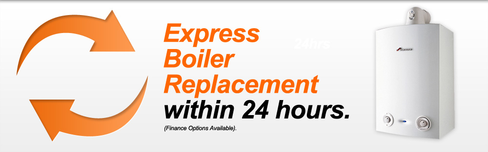 Express Boiler Replacement within 24 hours.